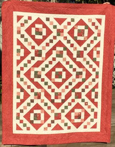 Ivan's Diamonds - red, pink, green & brown