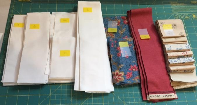 Daisy Chain Mystery - fabric cut